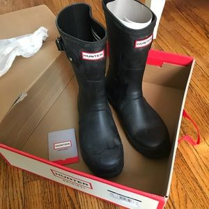 HUNTER BOOTS Mens Original Short Black